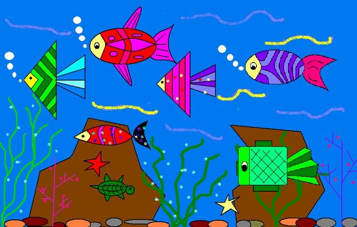 海底世界儿童画图 第20张